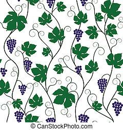 vite, uva, mazzo