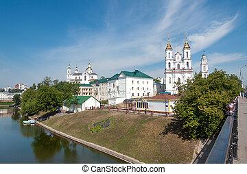 Vitebsk downtown - Downtown Vitebsk with Vicba river in ...