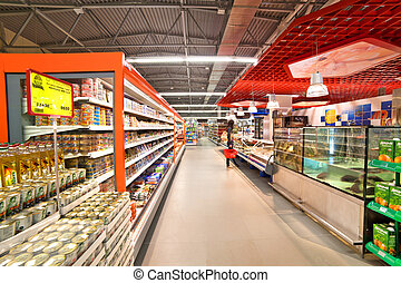"vitebsk, wit-rusland, -, juli, 19:, winkelcentrum, ""hanna"",..."