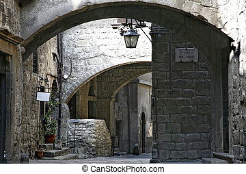 Viterbo (Lazio, Italy), the medieval quarter of San...