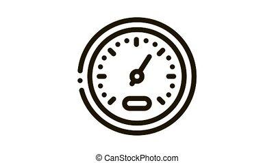 vitesse, athlète, indicateur, icône, animation