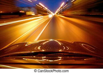 vitesse, conduire