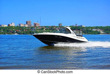 vitesse, luxe, bateau