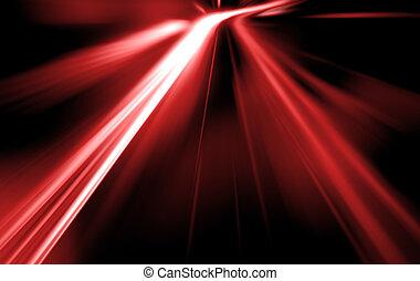 vitesse, route, nuit