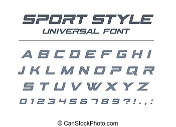 vitesse, style, sport, alphabet., technologie, universel, jeûne, avenir, font., futuriste
