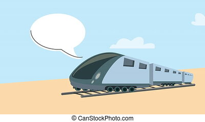 vitesse, véhicule, métro, voyage, animation