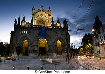 vitoria, land, alava, baske, kathedrale, spanien
