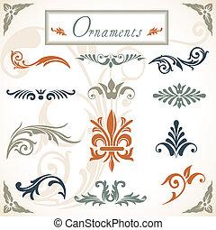 vitoriano, scroll, ornamentos