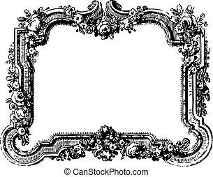 vitoriano, vetorial, quadro