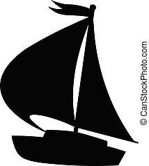 vitorlás hajó, ikon