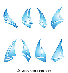 vitorlás hajó, ikonok