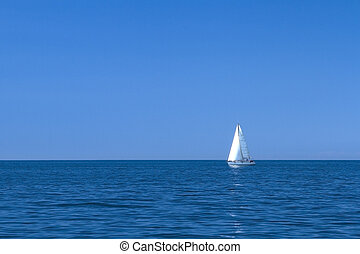 vitorlás hajó, képben látható, the mediterranean tenger