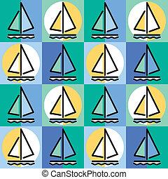 vitorlás hajó, motívum
