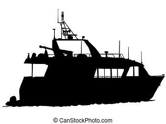 vitorlás hajó, motor