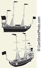 vitorlázás hajó, ősi
