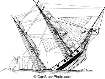 vitorlázás, hajótörés, hajó