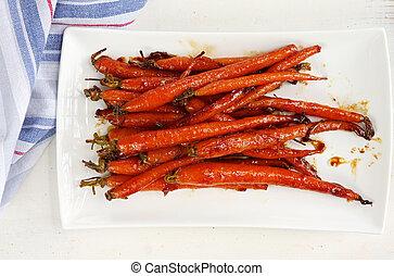vitré, carottes, miel