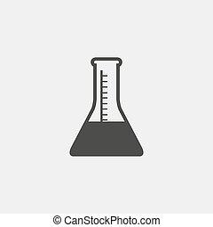 vitro icon in a flat design in black color. Vector illustration eps10