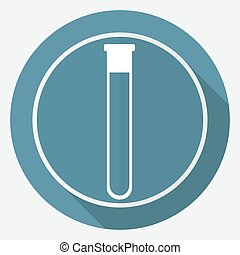 vitro icon on white circle with a long shadow