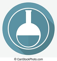 vitro icon on white circle with a long shadow