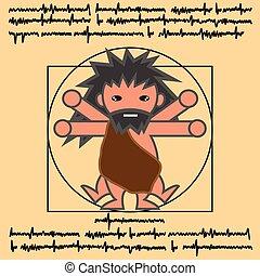 vitruvian ancient man