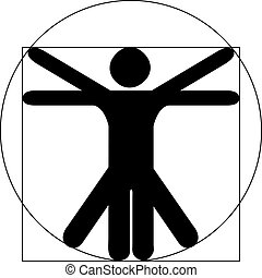 Vitruvian Man black