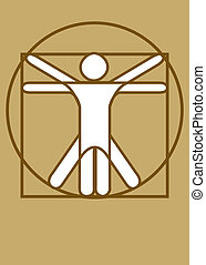 Vitruvian Man brown