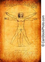 Vitruvian Man - Photo of the Vitruvian Man by Leonardo Da...