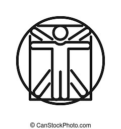 vitruvian man illustration design