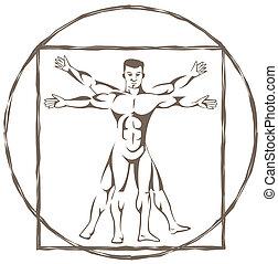vitruvian osoba