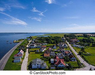 Vitte Hiddensee in Germany harbor island summer