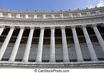 Vittoriano columns in Rome - Vittoriano columnade, Victor...