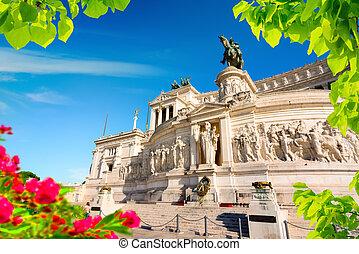 Il Vittoriano in Piazza Venezia, Rome, Italy