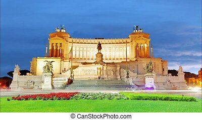 Vittorio Emanuele at night - Rome,