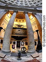 vittorio, emanuele, entro, ii, pantheon roma, tomba