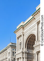 Vittorio Emanuele II Gallery Exterior, Milan
