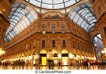 Vittorio Emanuele II Gallery. Milan, Italy - Vittorio...