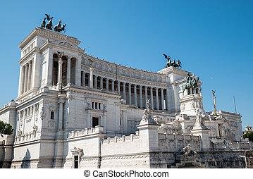 Vittorio Emanuele II Monument At Piazza Venezia In Rome, Italy
