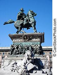 Vittorio Emanuele II monument in Mi