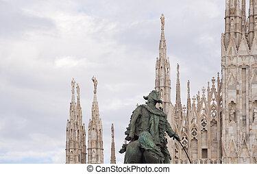 Vittorio Emanuele II monument in Milan