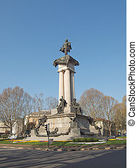 King Vittorio Emanuele II monument in Turin, Italy