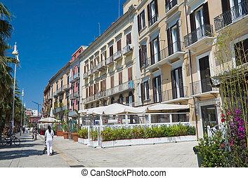 Vittorio Emanuele main street. Bari