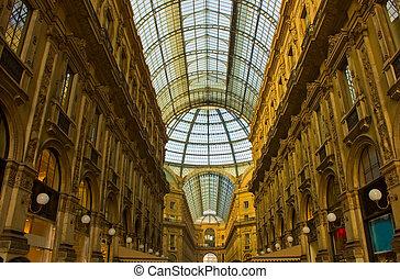 vittorio, emanuele, milaan, ii, galleria, italië