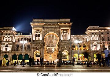 vittorio, emanuele, milaan, ii, gallery., italië