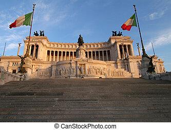 Vittorio Emanuele Monument in Rome, Italy