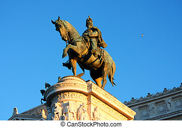 Vittorio Emanuele, The Piazza Venezia in Rome, Italy