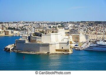 Vittoriosa and Fort St Angelo, Malta.