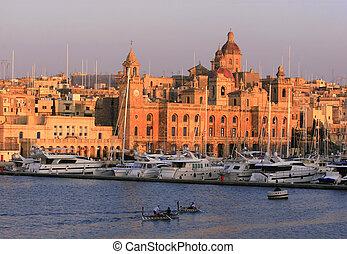 Vittoriosa Wharf, Malta - Traditional wooden Dghajsa boats...