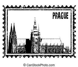 vitus, kathedraal, vector, st