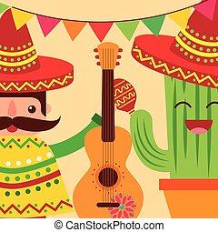 viva, meksyk, celebrowanie